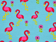 Jersey Flamingos , pink türkis