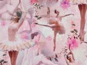 Jersey Digitaldruck Ballerina, rosa