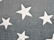 RESTSTÜCK 43 cm Wellness Fleece Jacquard  Sterne, grau