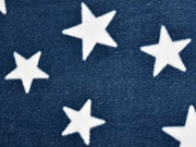 Wellness Fleece Jacquard  Sterne, dunkelblau