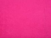 RESTSTÜCK 63 cm weicher Baumwollfleece, pink (fuchsia)
