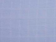 Musselin Quadrate, helles jeansblau