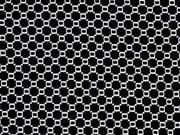elastischer Jacquard Wabenmuster, schwarz weiss