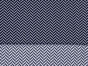 elastischer Jacquard grafisches Muster nachtblau
