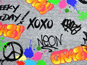 RESTSTÜCK 28 cm Jersey Digitaldruck Graffiti