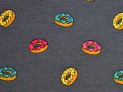 RESTSTÜCK 33 cm Jersey Donuts, dunkelgrau