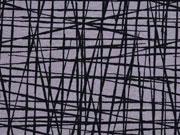 RESTSTÜCK 82 cm Jersey wilde Linien, dunkelgrau