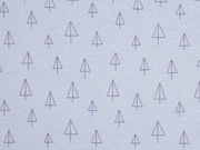 Organic Interlock Dreiecke Pfeile, hellblau