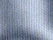 RESTSTÜCK 89 cm Viskose schmale Streifen, dunkelblau-weiss
