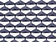 Jacquard Jersey Sanduhr grafisches Muster, graublau