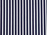Blusenstoff Crepe Streifen längs, dunkelblau