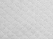 RESTSTÜCK 143 cm gesteppter Jersey Rauten, cremeweiß