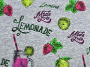 Jersey Digitaldruck Lemonade, grau meliert