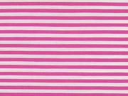 Baumwolle Stretch Streifen schmal, mattes pink