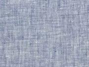 Leinen Stoff uni, jeansblau melange