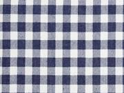 weicher Jeansstoff Karomuster, dunkles jeansblau