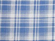 weicher Jeansstoff kariert Glencheck, helles jeansblau