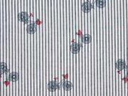 Seersucker Streifen Fahrrad