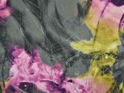 Chiffon Fantasy grau flieder lila oliv