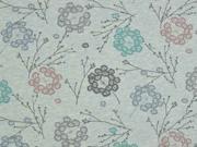 Organic Sweat Zweige Blumen, mint melange