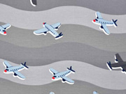 Jersey Flugzeuge Wellen, grau