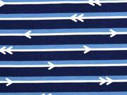 Jersey Pfeile Streifen, dunkelblau