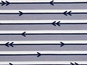 Jersey Pfeile Streifen, grau
