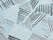 Jersey diagonale Linien, hellblau