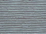 Jersey Streifen Blurry Stripes, grau hellblau