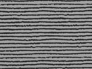 Jersey Streifen Blurry Stripes, grau schwarz