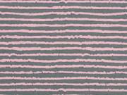 Jersey Streifen Blurry Stripes, grau altrosa