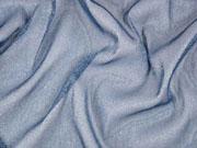 elastischer weicher Tüll mit Glitzer jeansblau