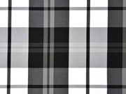 Mantelstoff Karo, schwarz weiss grau