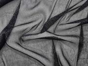Elastischer weicher Tüll mit Glitzer, schwarz