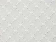 Baumwollstoff Batist Stickerei Kreise, cremeweiss