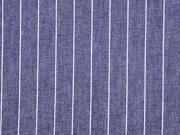 Jeansstoff Nadelstreifen, weiß dunkelblau