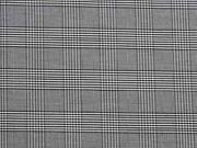 elastische Baumwolle Glencheck schwarz/weiss