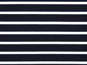 Vi-Jersey Punto di Roma Streifen nachtblau creme