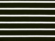Vi-Jersey Punto di Roma Streifen, schwarz creme