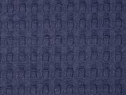 Frottee Waffelmuster XL, dunkelblau