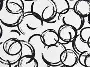 Baumwolle Kringel, schwarz weiß