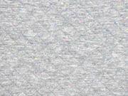 gesteppter Jersey Rauten, grau bunte Punkte