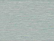 Jersey Streifen 1 mm Garn gefärbt, mattes mint