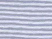 Jersey Streifen 1 mm garngefärbt, hellblau