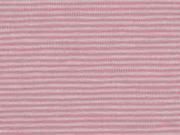Jersey Streifen 1 mm garngefärbt, rosa