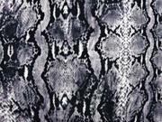 Viskose Jersey Schlangenmuster, grau
