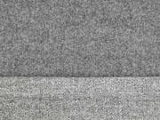 Doubleface Velour Strick, anthrazit