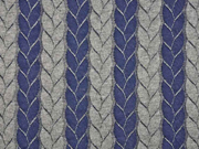 Jacquard Jersey Zopfmuster, dunkelblau grau melange