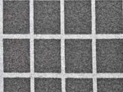 Jacquard Jersey Karomuster Gitternetz, grau meliert