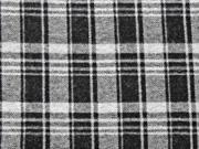 RESTSTÜCK 99 cm Jacquard Jersey Glencheck, schwarz meliert